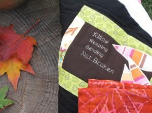 Willow, Weeping, Bending, Not Broken - Quilt Close Up
